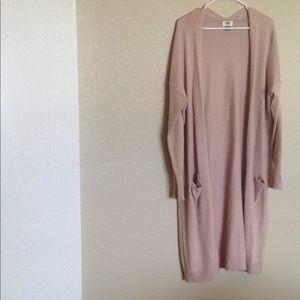 Mauve long sweater/cardigan GAP